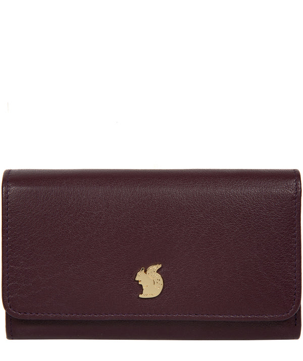 'Colleen' Plum Leather RFID Purse image 1