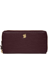 'Aisling' Plum Leather RFID Purse image 1