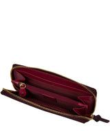 'Aisling' Plum Leather RFID Purse image 3