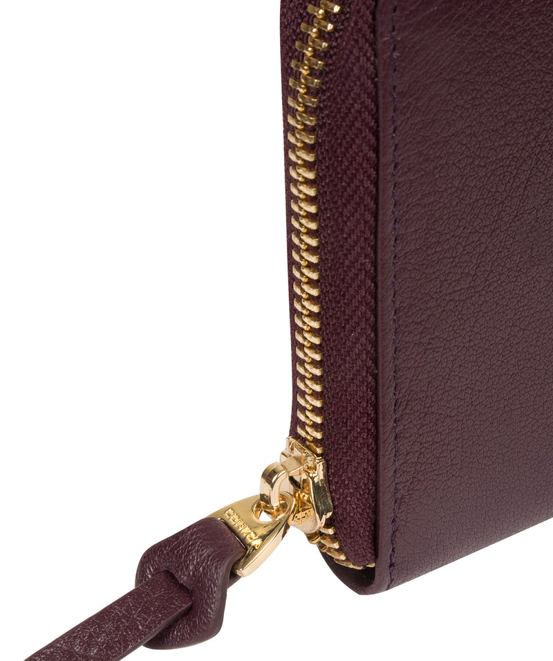 'Aisling' Plum Leather RFID Purse image 5