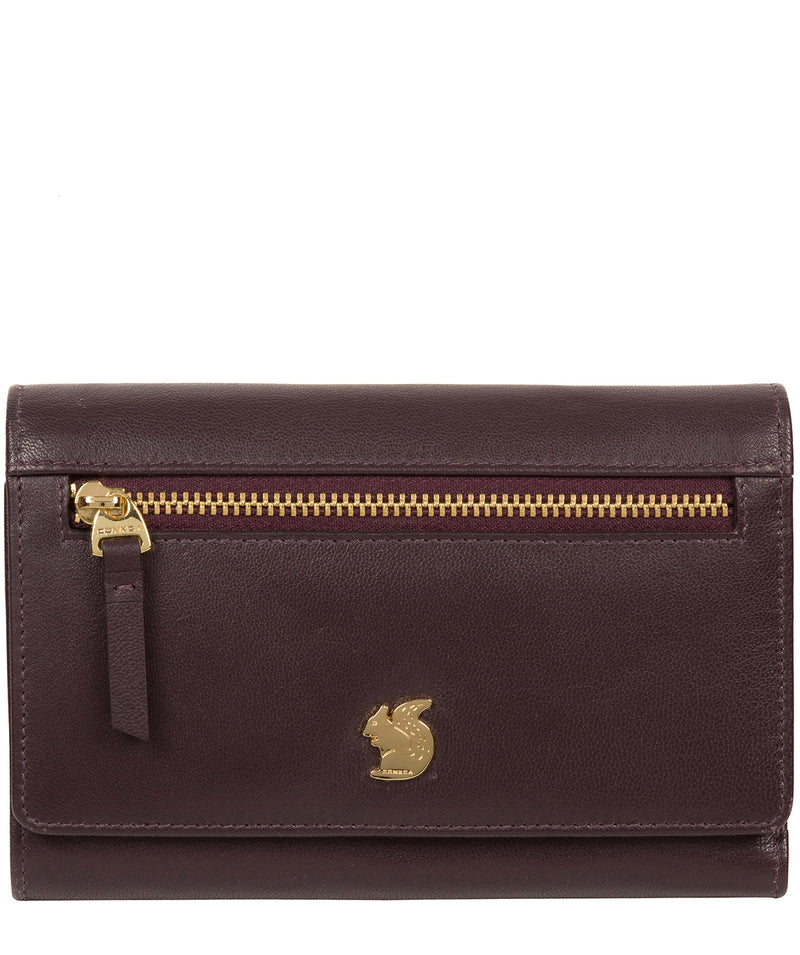'Carey' Plum Leather Purse image 1