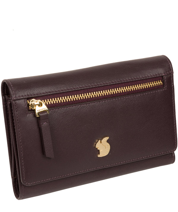 'Carey' Plum Leather Purse image 3