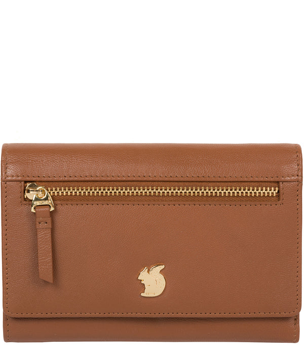 'Carey' Tan Leather Purse image 1