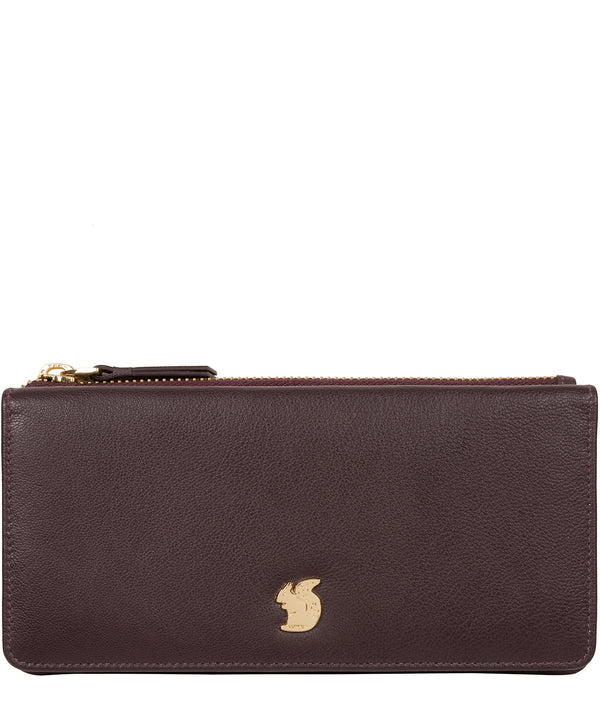 'Mavor' Plum Leather Purse image 1