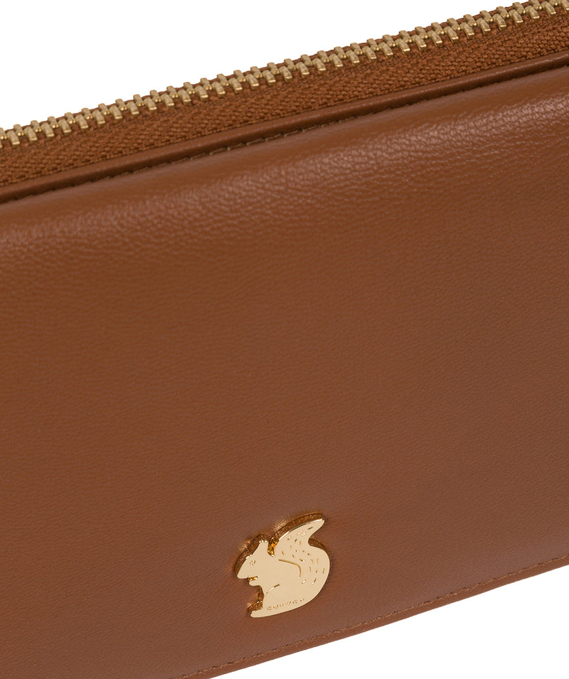 'Mavor' Tan Leather Purse image 7