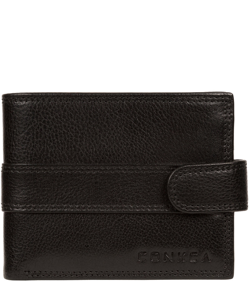 'Hardy' Black Leather Wallet Pure Luxuries London