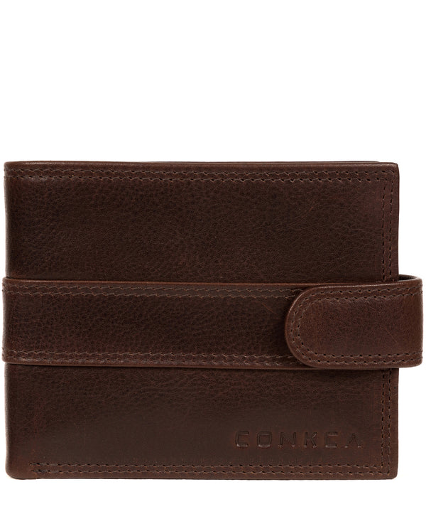 'Hardy' Brown Leather Wallet Pure Luxuries London