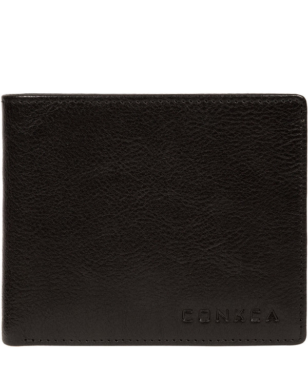 'Elba' Black Leather Wallet image 1