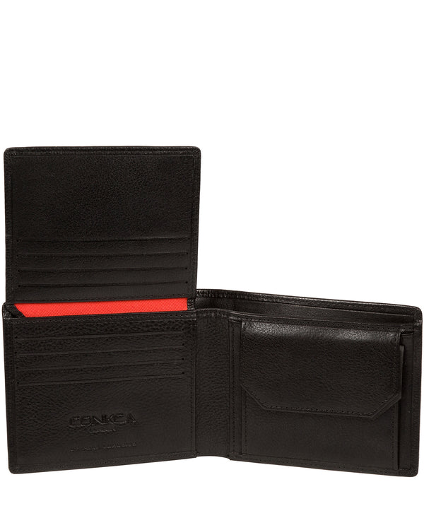 'Elba' Black Leather Wallet image 3