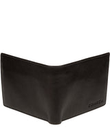 'Elba' Black Leather Wallet image 5