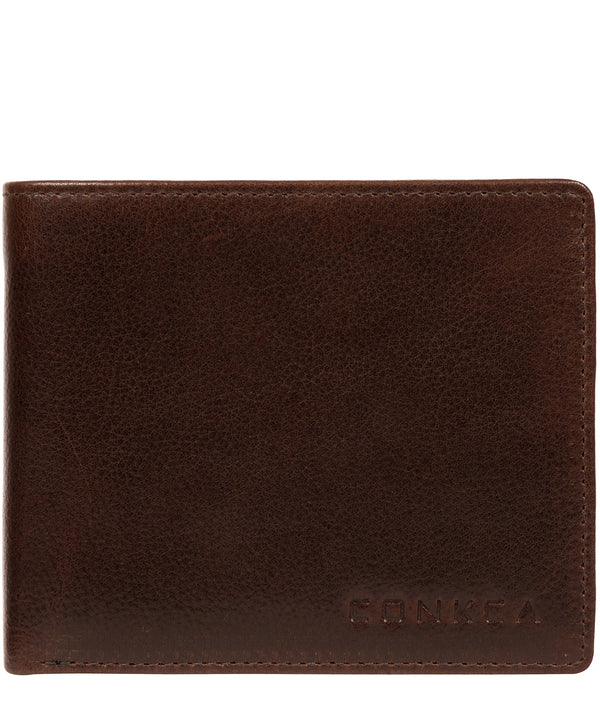'Elba' Brown Leather Wallet image 1