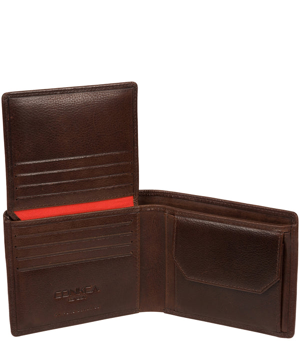 'Elba' Brown Leather Wallet image 4