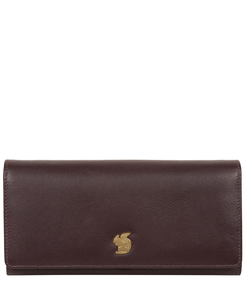 'Smith' Plum Leather Purse Pure Luxuries London
