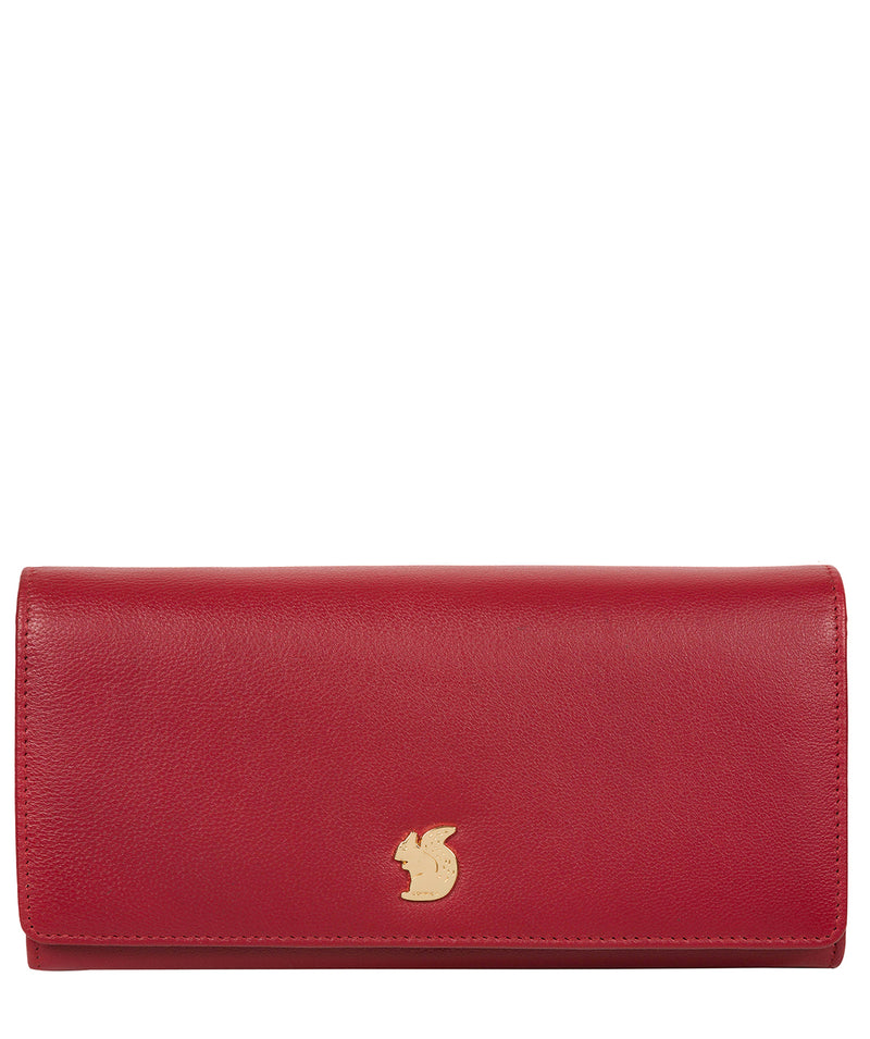 'Smith' Red Leather Purse Pure Luxuries London