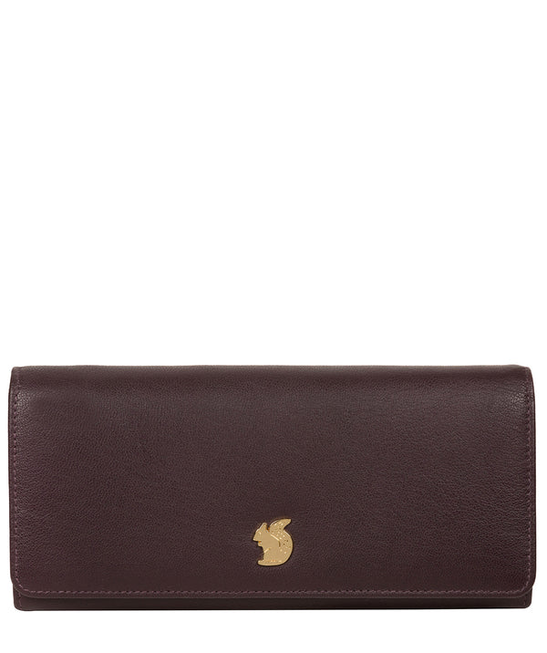 'Weisz' Plum Leather Purse image 1