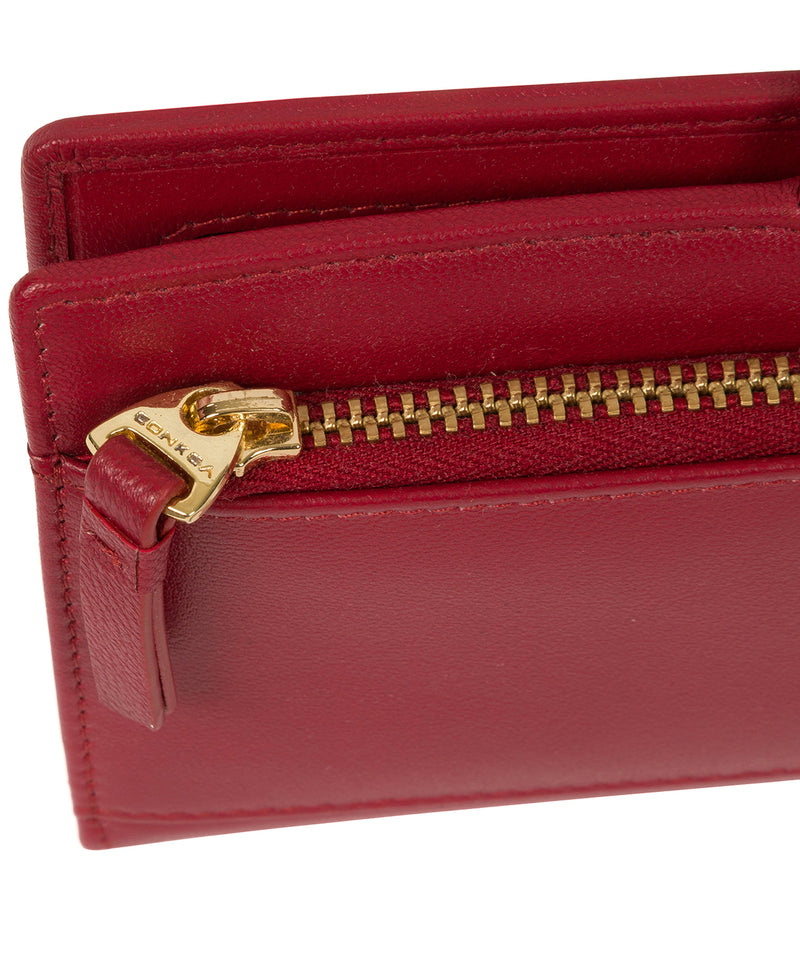'Kaif' Red Leather Purse image 7