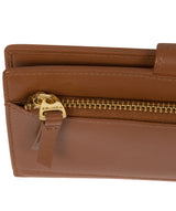 'Kaif' Tan Leather Purse image 7