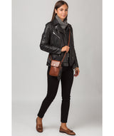 'Buzz' Conker Brown Leather Small Cross Body Bag