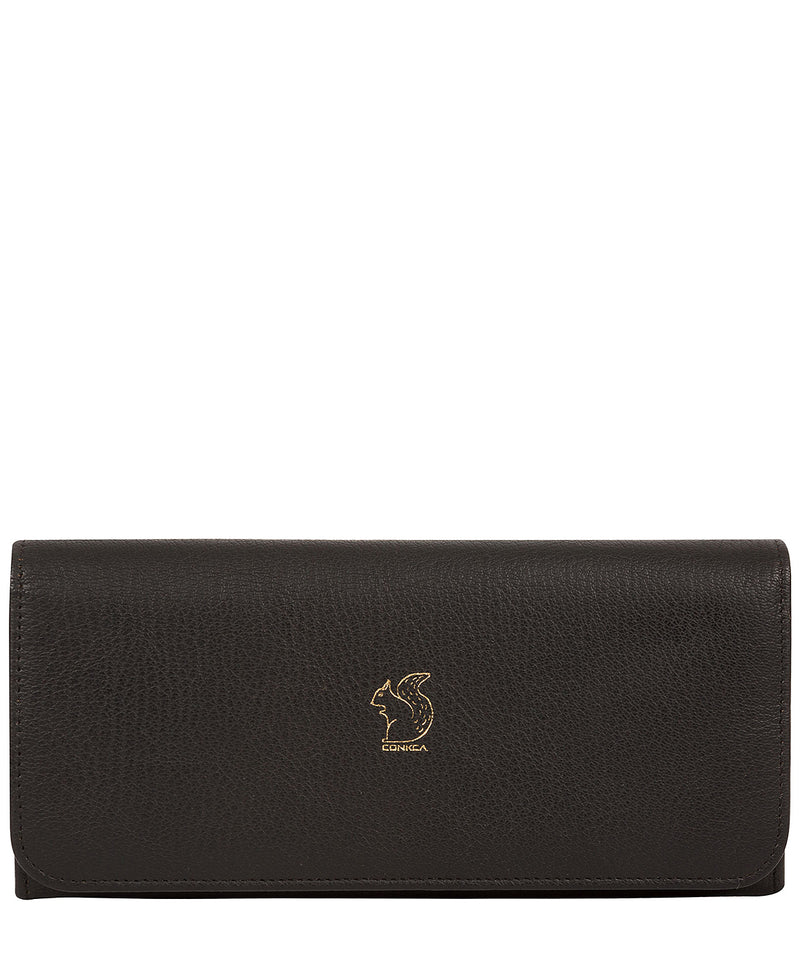 'Jorja' Pebble Black Leather Purse