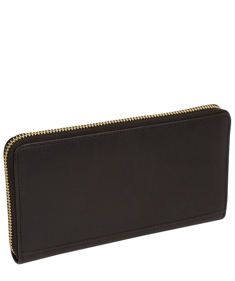 'Billie' Smooth Black Leather Purse