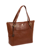 'Mondo' Conker Brown Leather Tote Bag
