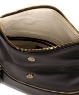 'Flare' Black Leather Clutch Bag