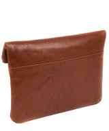 'Flare' Conker Brown Leather Clutch Bag