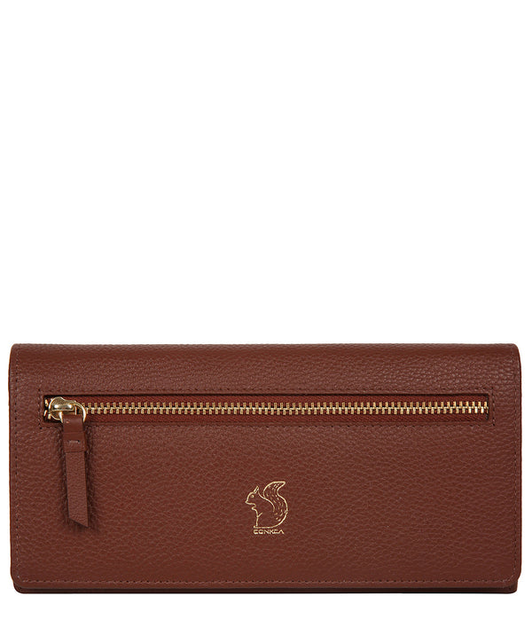 'Fenny' Chestnut Leather Purse