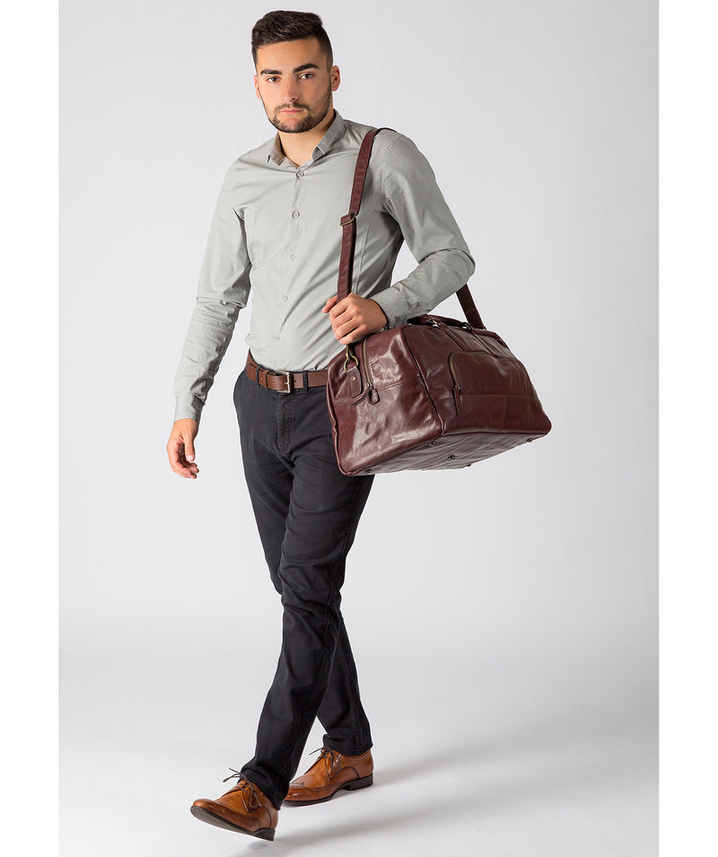 'Giambino' Italian-Inspired Brown Leather Holdall image 2