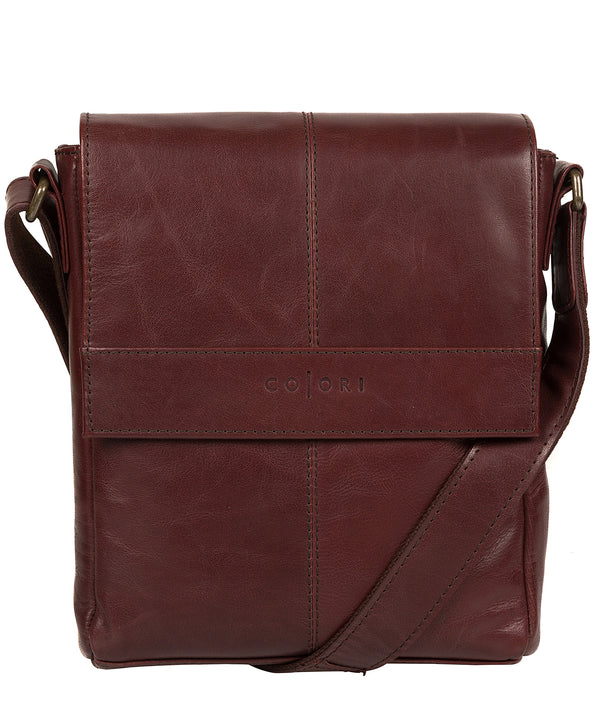 'Zoff' Italian-Inspired Brown Leather Messenger Bag Pure Luxuries London