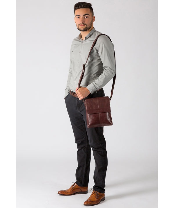 'Zoff' Italian-Inspired Brown Leather Messenger Bag