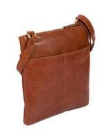 'Siena' Italian-Inspired Chestnut Leather Cross Body Bag