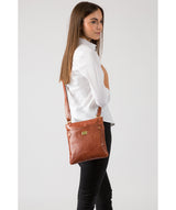 'Siena' Italian-Inspired Chestnut Leather Cross Body Bag image 2