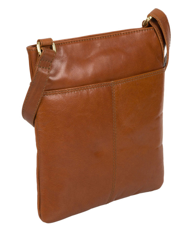 'Siena' Italian Tan Leather Cross Body Bag