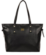 'Mazara' Italian-Inspired Black Leather Tote Bag image 1