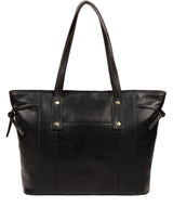 'Mazara' Italian-Inspired Black Leather Tote Bag image 3