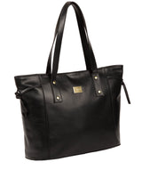 'Mazara' Italian-Inspired Black Leather Tote Bag image 5
