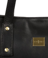 'Mazara' Italian-Inspired Black Leather Tote Bag image 7