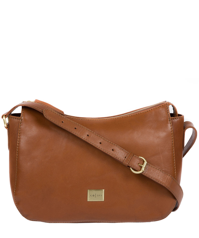 'Enna' Italian Inspired Tan Leather Bag image 1