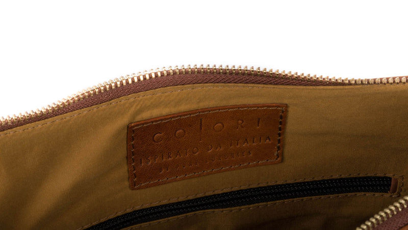'Enna' Italian Inspired Tan Leather Bag image 3