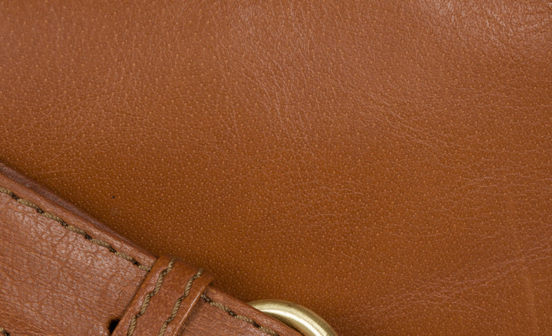 'Enna' Italian Inspired Tan Leather Bag image 5
