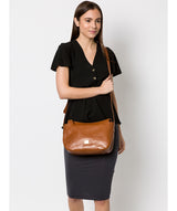 'Enna' Italian Inspired Tan Leather Bag image 2