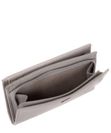 'Stow' Silver Grey Leather Purse image 4
