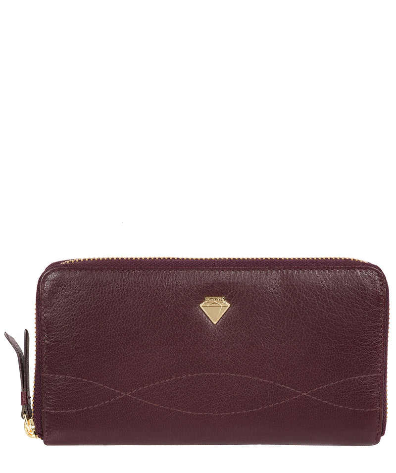 'Banbury' Beetroot Leather Zip-Round Purse image 1