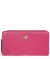 'Banbury' Fuchsia Leather Zip-Round Purse image 1