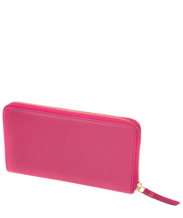 'Banbury' Fuchsia Leather Zip-Round Purse image 3