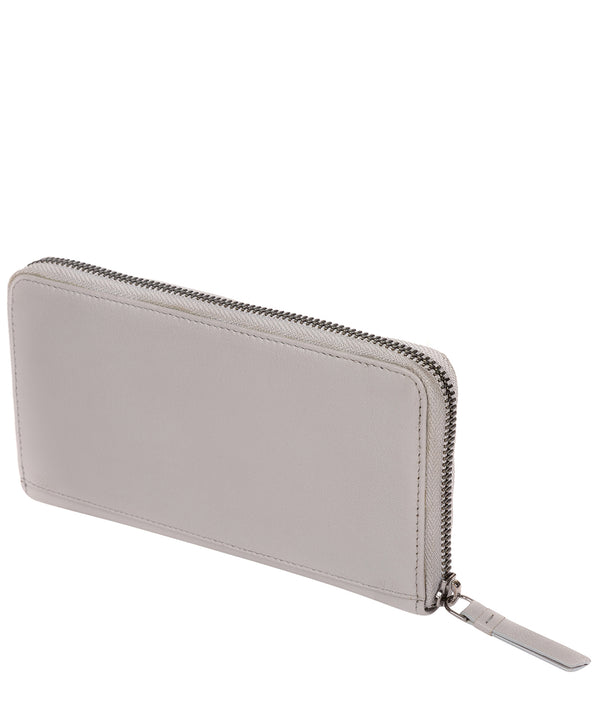 'Banbury' Silver Grey Leather Zip-Round Purse image 3