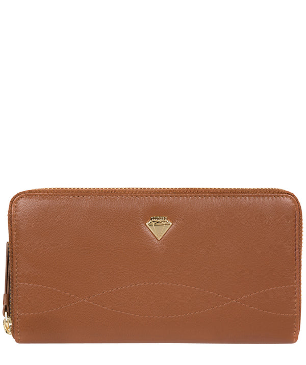 'Banbury' Tan Leather Zip-Round Purse image 1