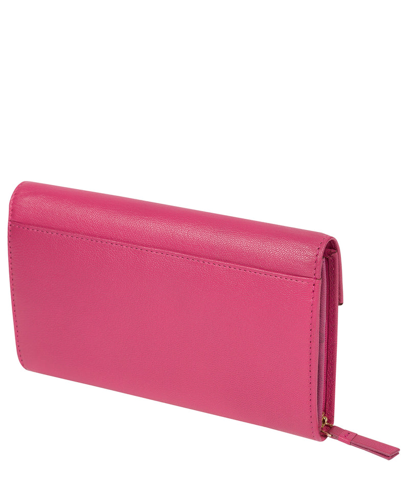 'Keston' Fuchsia Leather Purse image 3