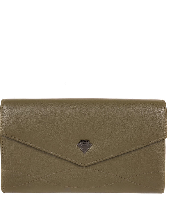 'Keston' Olive Leather Purse image 1